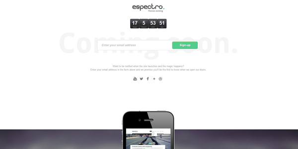 espectro-responsive-clean-coming-soon-page
