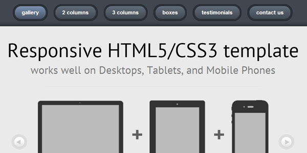 template html5 et css3 responsive