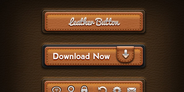 leather-ui-elements-psd