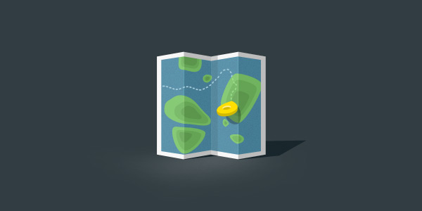 Map Icon - Free shape layered psd