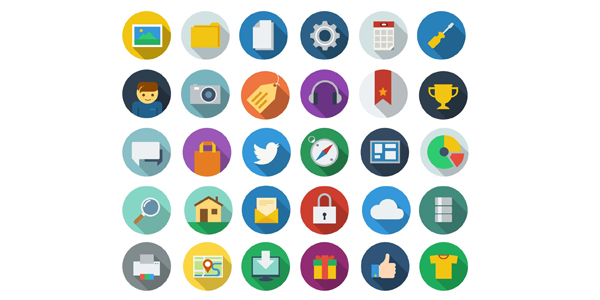free-download-modern-long-shadow-icons