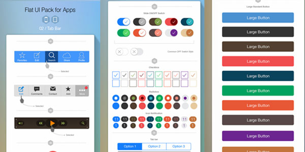 Flat-UI-Pack-for-Apps-Build-Apps-Beautifully