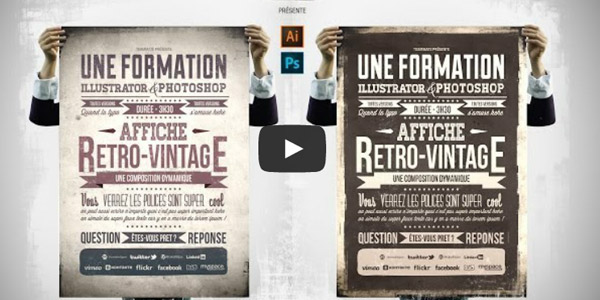 tuto-photoshop-illustrator-creer-affiche-retro-vintage-typographie