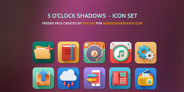 free-download-5-oclock-shadows-icon-set