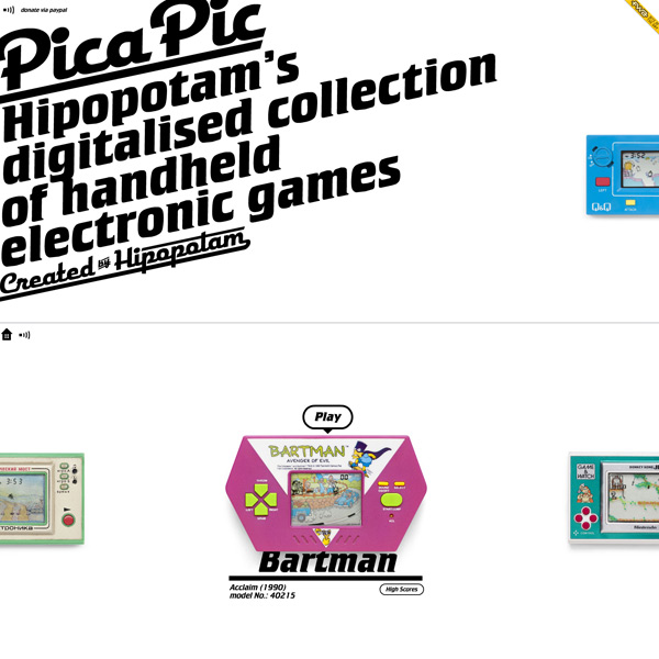Pica Pic | retro handheld games collection