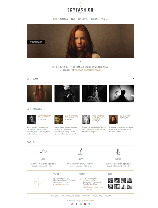 skyfashion-minimalist-wordpress-theme