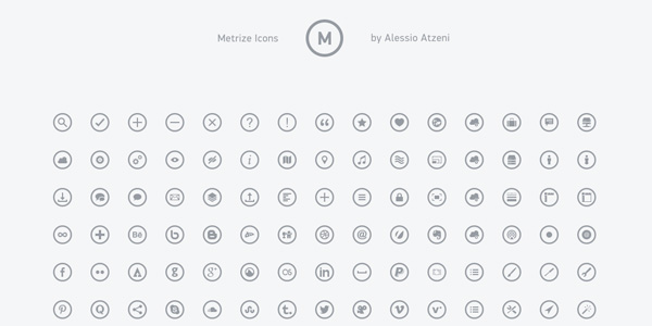 Free Collection of 300 Metro-Style Icons